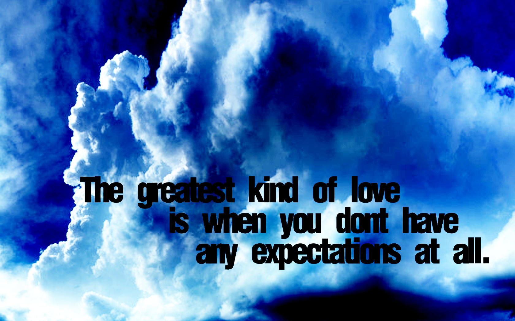 no expectations
